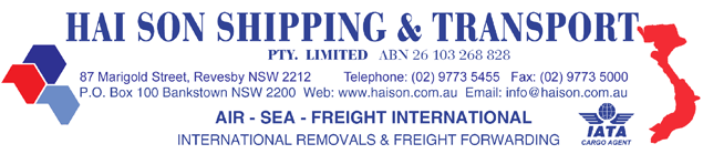 HAISON SHIPPING & TRANSPORT PTY LTD